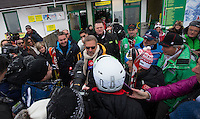 09.02.2013, Planai, Schladming, AUT, FIS Weltmeisterschaften Ski Alpin, Abfahrt, Herren, im Bild Medienaufgebot um Hollywoodstar Kevin Costner // Media contingent to Hollywood Star Kevin Costner before the mens Downhill at the FIS Ski World Championships 2013 at the Planai Course, Schladming, Austria on 2013/02/09. EXPA Pictures © 2013, PhotoCredit: EXPA/ Johann Groder .Schladming 9/2/2013 .Mondiali Sci 2013.Discesa Libera Uomini .Foto Insidefoto - ITALY ONLY