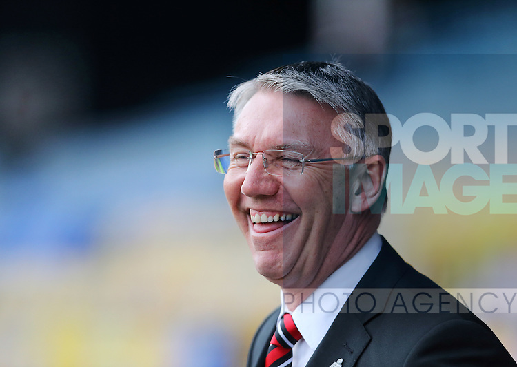 Sheffield United manager Nigel Adkins looks on during the League One match at Roots Hall Stadium.  Photo credit should read: David Klein/Sportimage