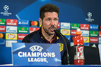 Official press conference of Atletico de Madrid  before the Champions League match