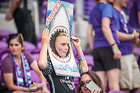 Orlando, FL - Saturday April 22, 2017: Orlando Pride Fan during a regular season National Women's Soccer League (NWSL) match between the Orlando Pride and the Washington Spirit at Orlando City Stadium.