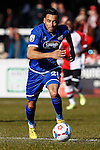 Nathan Arnold of Grimsby Town during the Vanamara Conference League match between Woking and Grimsby Town at the Kingfield Stadium, Woking, Surrey<br /> Picture by David Horn/eXtreme aperture photography +44 7545 970036<br /> 07/03/2015