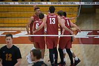 STANFORD, CA - December 30, 2017: Jaylen Jasper, Russell Dervay, Kevin Rakestraw, Eric Beatty at Burnham Pavilion. The Stanford Cardinal defeated the Calgary Dinos 3-1.