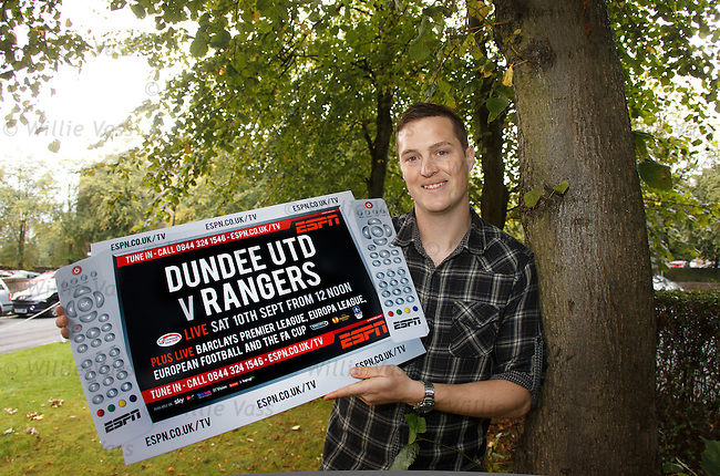 Jon Daly at Hotel Du Vin, Glasgow as he promotes ESPN's coverage of the Dundee Utd v Rangers match on Saturday