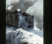 C&amp;TS rotary snowplow #OY plowing some snow in the narrows east of Chama.<br /> C&amp;TS  e. of Chama, NM