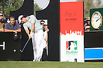 Rory McIlroy tees off on the 11th tee during the Final Day of the Dubai World Championship Golf in Jumeirah, Earth Course, Golf Estates, Dubai  UAE, 22nd November 2009 (Photo by Eoin Clarke/GOLFFILE)