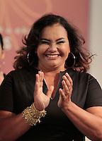 SAO PAULO, SP, 11 DE FEVEREIRO 2012 - FASHION WEEK PLUS SIZE - A atriz Solange Couto durante desfile da marca La Mafe no Fashion Week Plus Size na tarde desse sabado no espaco Frei Caneca na regiao central da capital paulista. FOTO: VANESSA CARVALHO - NEWS FREE.