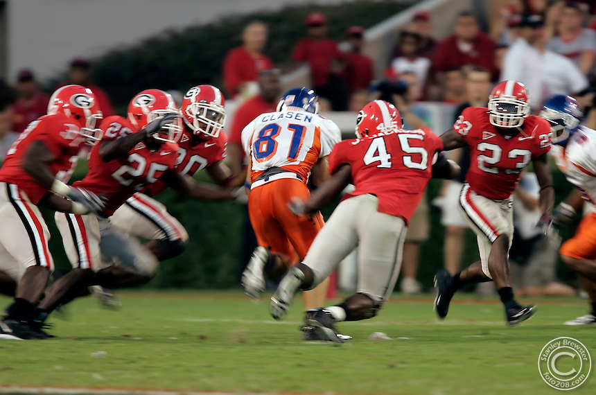 9-3-05 Athens, GA. 13th ranked Georgia vs. 18th rankrd Boise State at Sanford Stadium.