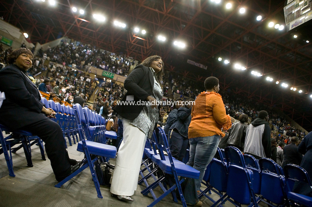 30 December 2006 - Augusta, GA - French singer and runner-up of La Nouvelle Star TV show, Miss Dominique attends the James Brown viewing and homecoming celebration at the James Brown Arena in Augusta, USA, 30 December 2006.