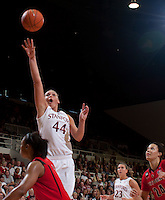 STANFORD, CA - November 14, 2010: Joslyn Tinkle during a basketball game against Rutgers at Stanford University in Stanford, California. Stanford won 63-50.