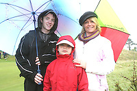 Niall, Ronan and Yvonne O'Kellyat the 3 Irish Open Golf in Baltray...Photo NEWSFILE/Jenny Matthews.(Photo credit should read Jenny Matthews/NEWSFILE)....This Picture has been sent you under the condtions enclosed by:.Newsfile Ltd..The Studio,.Millmount Abbey,.Drogheda,.Co Meath..Ireland..Tel: +353(0)41-9871240.Fax: +353(0)41-9871260.GSM: +353(0)86-2500958.email: pictures@newsfile.ie.www.newsfile.ie.FTP: 193.120.102.198.