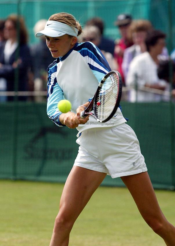Photograph: Scott Heavey..Hastings Direct Womens Tennis.  Eastbourne. 17/06/2003..Daniela Hantuchova