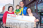 Pictured is Michael Lawlor who ran the Dublin City Marathon, raising €1,026 for Kingdom Care in Tralee. From Left: Mary Pat Sheehy, Dara Lawlor, Michael Lawlor and Mary Curran.