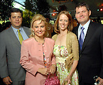 From left: Jon and Merritt Marinelli with Kate and Christopher Robertson at the Bayou Bend Garden Party  Sunday April 05,2009.(Dave Rossman/For the Chronicle)