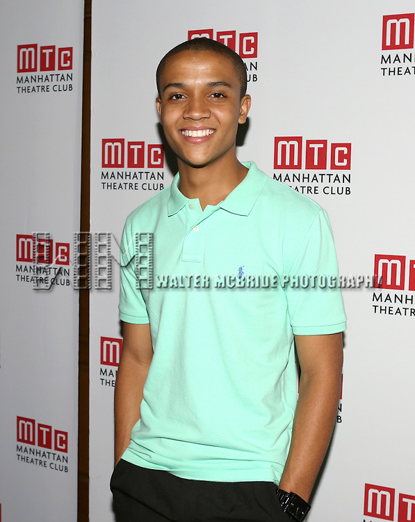 Nicholas L. Ashe attending the Opening Night Celebration for the MTC American Premiere of 'Choir Boy' at Inside Park at St. Bart's on July 2, 2013 in New York City.