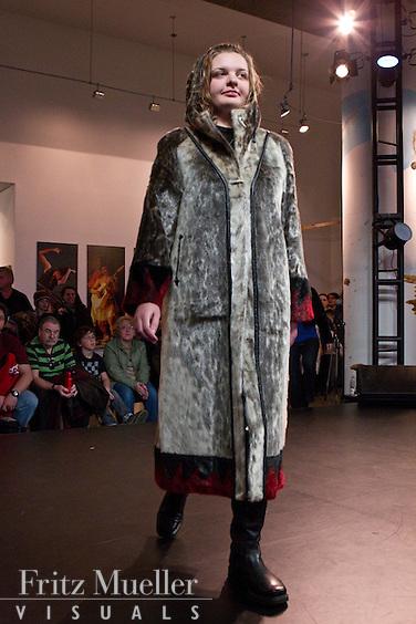 Fur fashion show on Nunavut Day at Canada's Northern House