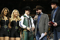 NOVA YORK, 06.01.2019 - PBR-NEW YORK - Peao Jess Lockwood durante montaria do PBR (Professional Bull Riders) empresa norte-americana que promove competições internacionais de montaria em touros etapa Nova York no Madison Square Garden neste domingo. (Foto: Vanessa Carvalho/Brazil Photo Press)