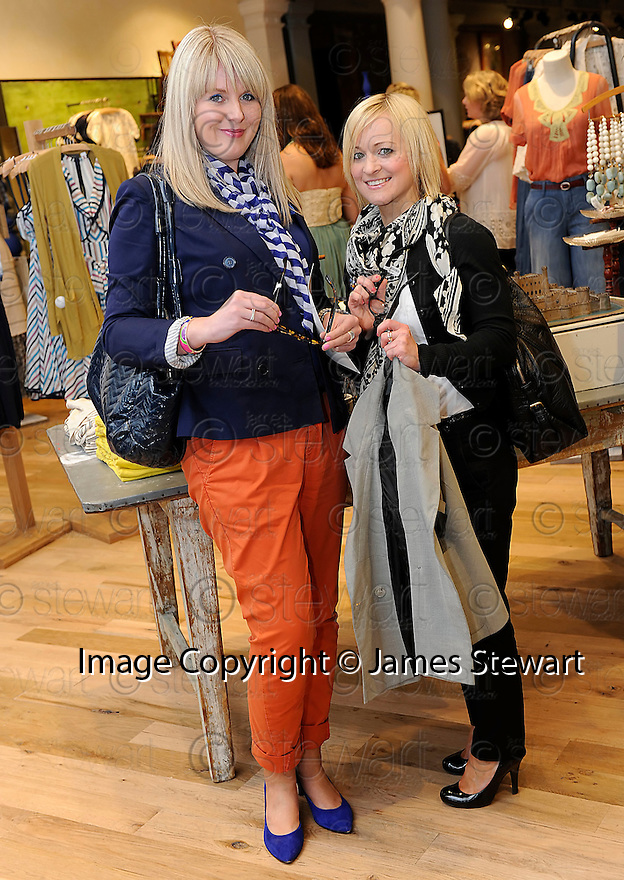 INVITED GUESTS, NADINE REILLY AND JENNY INGRAM, AT THE LAUNCH EVENING  OF THE NEW ANTHROPOLOGIE STORE IN GEORGE STREET EDINBURGH<br /> <br /> For further info contact Kelly Cooper Barr, 07967 184911