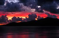 Spanien, Kanarische Inseln, Lanzarote, dramatischer Sonnenuntergang | Spain, Canary Island, Lanzarote, dramtic sunset