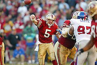 Jeff Garcia in action against the New York Giants