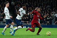 Liverpool's Georginio Wijnaldum battles for possession with Tottenham's Davinson Sanchez <br /> <br /> Photographer Stephanie Meek/CameraSport<br /> <br /> The Premier League - Tottenham Hotspur v Liverpool - Saturday 11th January 2020 - Tottenham Hotspur Stadium - London<br /> <br /> World Copyright © 2020 CameraSport. All rights reserved. 43 Linden Ave. Countesthorpe. Leicester. England. LE8 5PG - Tel: +44 (0) 116 277 4147 - admin@camerasport.com - www.camerasport.com
