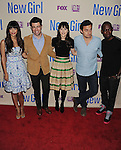NORTH HOLLYWOOD, CA- APRIL 30: (L-R) Actors Hannah Simone, Max Greenfield, Zooey Deschanel, Jake Johnson and Lamorne Morris  attend the FOX's 'New Girl' special screening at Leonard H. Goldenson Theatre on April 30, 2013 in North Hollywood, California.
