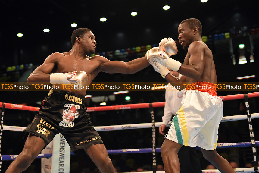 Ohara Davies (black shorts) defeats Prince Ofotsu during a Boxing show at the Copper Box Arena, promoted by Matchroom Sports