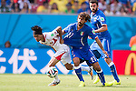 Christian Bolanos (CRC), Andrea Pirlo (ITA), JUNE 20, 2014 - Football / Soccer : FIFA World Cup Brazil 2014 Group D match between Italy 0-1 Costa Rica at Arena Pernambuco in Recife, Brazil. (Photo by Maurizio Borsari/AFLO) [0855]