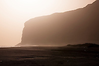 Cliffs at sunset at Qa'arah, Socotra, Yemen