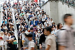 Visitors attend the first day of Comic Market 92 (Comiket) event at Tokyo Big Sight on August 11, 2017, Tokyo, Japan. The annual event that began in 1975 focuses on manga, anime, game and cosplay. Organizers expect more than 500,000 visitors to attend the 3-day event. (Photo by Rodrigo Reyes Marin/AFLO)