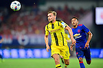 Borussia Dortmund defender Marcel Schmelzer (l) and Manchester United midfielder Jesse Lingard (r) during the International Champions Cup China 2016, match between Manchester United vs Borussia  Dortmund on 22 July 2016 held at the Shanghai Stadium in Shanghai, China. Photo by Marcio Machado / Power Sport Images