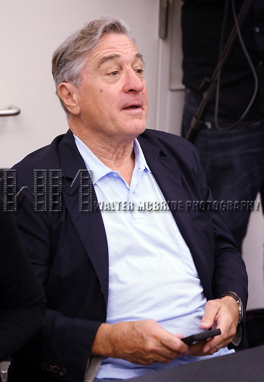 Robert De Niro attends the 'We Will Rock You' North America Tour Rehearsals at The New 42nd Street Studios on September 23, 2013 in New York City.