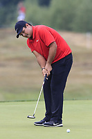 Patrick Reed (USA) putts on the 12th green during Saturday's Round 3 of the Porsche European Open 2018 held at Green Eagle Golf Courses, Hamburg Germany. 28th July 2018.<br /> Picture: Eoin Clarke | Golffile<br /> <br /> <br /> All photos usage must carry mandatory copyright credit (&copy; Golffile | Eoin Clarke)