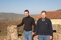 Edmond Monnot and his son owner dom e monnot & f santenay cote de beaune burgundy france