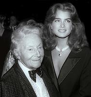 Erte and BrookeShields 1984<br /> Photo By Jesse Nash/PHOTOlink