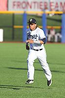 Luis Veras (5) of the Hillsboro Hops bats runs before a game against the Salem-Keizer Volcanoes at Ron Tonkin Field on July 27, 2015 in Hillsboro, Oregon. Hillsboro defeated Salem-Keizer, 9-2. (Larry Goren/Four Seam Images)