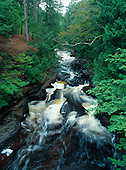Presque Isle River Falls, Porcupine Mountain Wilderness State Park, Ontonagon county, Upper Peninsula of Michigan.