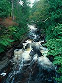 Presque Isle River Falls, Porcupine Mountain Wilderness State Park, Ontonagon county, Upper Peninsula of Michigan.
