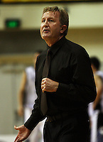 Saints coach Gordon McLeod during the NBL Round 2 basketball match between the Wellington Saints and Nelson Giants at TSB Bank Arena, Wellington, New Zealand on Thursday 19 March 2009. Photo: Dave Lintott / lintottphoto.co.nz