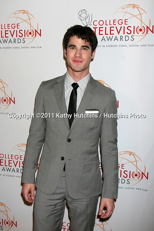 LOS ANGELES - APR 9:  Darren Criss arriving at the 32nd Annual College Television Awards at Renaissance Hotel Hollywood  on April 9, 2011 in Los Angeles, CA
