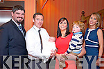 Fiona and Padraig O'Leary from Kiskeam celebrated christening of their son Sean with other son Daniel, God Father Jeremiah Connelly and God Mother Marie O'Leary in the Scotts Hotel, Killarney last Saturday.