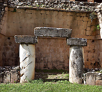 The Great Palace, detail of portico, Puuc Style, 750 ? 1000 AD, Sayil, Yucatan, Mexico. Picture by Manuel Cohen