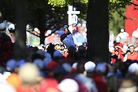 Jordan Spieth (Team USA) on the 13th tee during Sunday Singles matches at the Ryder Cup, Hazeltine National Golf Club, Chaska, Minnesota, USA. 02/10/2016<br /> Picture: Golffile | Fran Caffrey<br /> <br /> <br /> All photo usage must carry mandatory copyright credit (&copy; Golffile | Fran Caffrey)