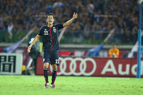 Maya Yoshida (JPN),<br /> SEPTEMBER 10, 2013 - Football / Soccer :<br /> Kirin Challenge Cup 2013 match between Japan 3-1 Ghana at Nissan Stadium in Kanagawa, Japan. (Photo by Kenzaburo Matsuoka/AFLO)