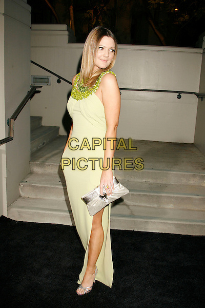DREW BARRYMORE.Gianni And Donatella Versace Receive Rodeo Drive Walk Of Style Award held at the Beverly Hills City Hall, Beverly Hills, California, USA. .February 8th, 2007.full length lime green dress beaded collar neckline silver clutch purse .CAP/ADM/RE.©Russ Elliot/AdMedia/Capital Pictures