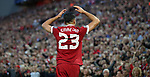 Emre Can of Liverpool celebrates during the Champions League playoff round at the Anfield Stadium, Liverpool. Picture date 23rd August 2017. Picture credit should read: Lynne Cameron/Sportimage