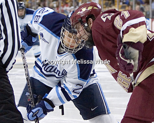 Derek Damon, Benn Ferreiro - The Boston College Eagles defeated the University of Maine Black Bears 4-1 in the Hockey East Semi-Final at the TD Banknorth Garden on Friday, March 17, 2006.