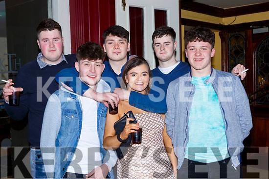 Mark Donnegan, William Murphy, James McDermott, Aoife Kelly, Tomas Brosnan and Simon Donnegan Abbeyfeale  celebrating New Years Eve in Scruffys bar Killarney