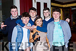 Mark Donnegan, William Murphy, James McDermott, Aoife Kelly, Tomas Brosnan and Simon Donnegan Abbeyfeale  celebrating New Years Eve in Scruffys bar Killarney