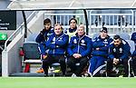 Stockholm 2014-05-04 Fotboll Superettan Hammarby IF - IFK V&auml;rnamo :  <br /> V&auml;rnamos tr&auml;nare Peter Johansson &quot;Kuno&quot; och V&auml;rnamos tr&auml;nare J&ouml;rgen Petersson p&aring; IFK V&auml;rnamos avbytarb&auml;nk under matchen <br /> (Foto: Kenta J&ouml;nsson) Nyckelord:  Superettan Tele2 Arena Hammarby HIF Bajen V&auml;rnamo portr&auml;tt portrait tr&auml;nare manager coach