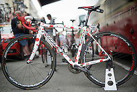 the polka dot Ridley of Thomas De Gendt (BEL/Lotto-Soudal) before the start of stage 8 in Pau (towards Bagnères-de-Luchon, 184km)<br /> <br /> 103rd Tour de France 2016